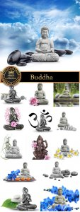 Buddha figure, deity - stock photos
