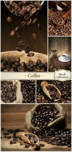 Coffee, coffee beans placer - stock photos