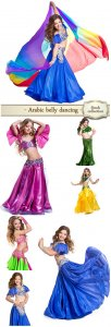 Arabic belly dancing,  little girl - Stock Photo