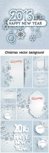 Christmas vector background with snowflakes and elements for text