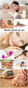 Beautiful woman spa care