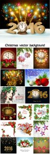Christmas vector background, winter, new year